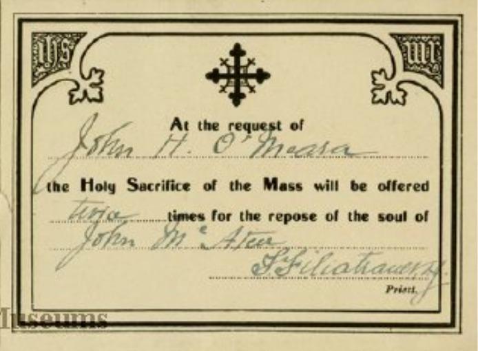 John McAteer Death Certificate, 1919